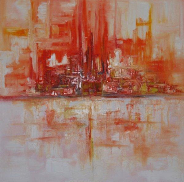Tableau abstrait peinture l 39 huile 80x80 cm blog de artcontemporain2610 - Tableau peinture a l huile ...
