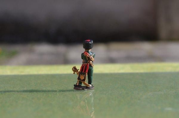 Diorama bataille de Reims du 13 Mars 1814 officier et sous-officier des chasseurs � cheval de la garde