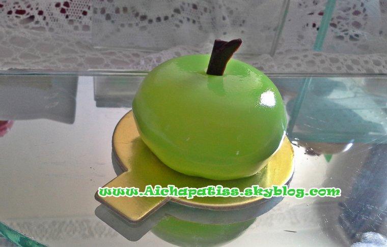 mes gateaux  soirr�s pomme verte et rouge