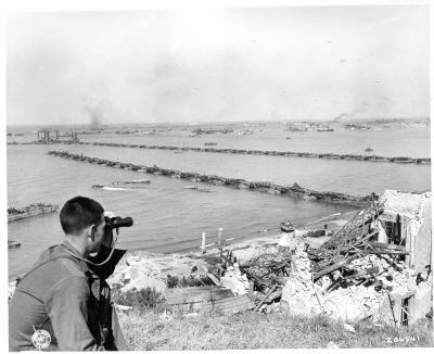 Port artificiel d 39 arromanches la seconde guerre mondial - Port artificiel d arromanches construction ...