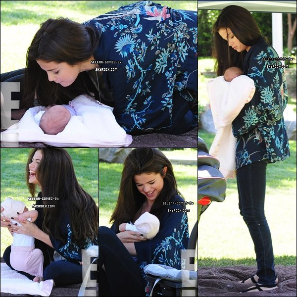 19 06 2013 selena gomez et sa famille passaient du bon temps dans un parc - Selena gomez et sa famille ...