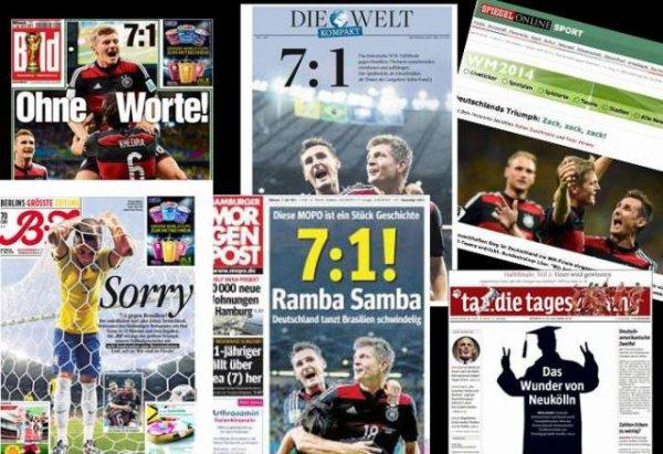 Coupe du monde 2014, Br�sil-Allemagne : revue de presse