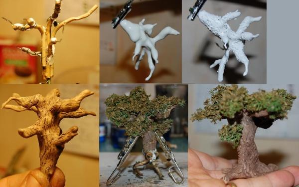 Comment fabriquer des arbres au 1 72 maquettes - Autrefois utile pour faire chauffer un lit ...