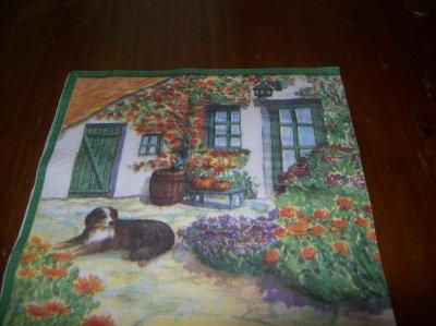chien et parterre de fleurs devant maison mes creas et decouverte de mon petit coin de. Black Bedroom Furniture Sets. Home Design Ideas