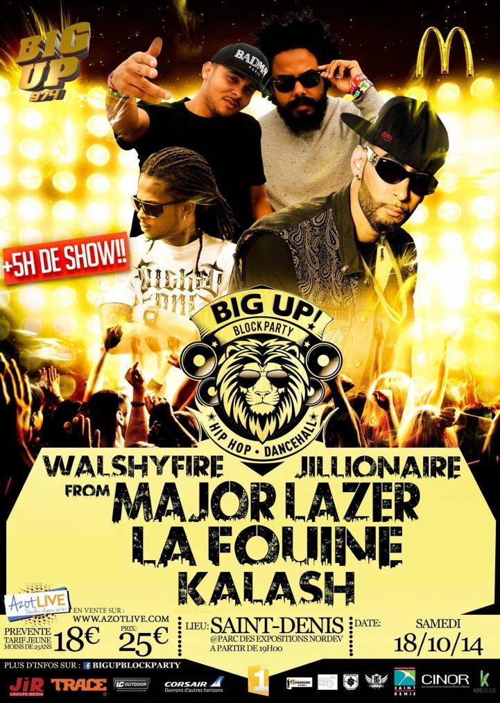 """Ev�nement """"URBAN BLOCK PARTY"""" au concert Major Laser / La Fouine / Kalash / New G�n�ration a la R�union"""