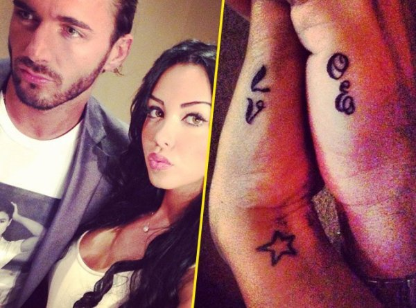 nabilla et thomas un tatouage commun newsmh. Black Bedroom Furniture Sets. Home Design Ideas