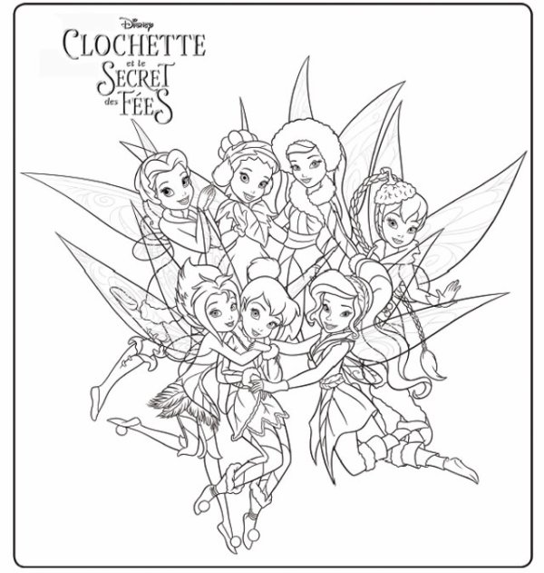Coloriage f erique nouveaublu raydisney - Image de fee a colorier ...