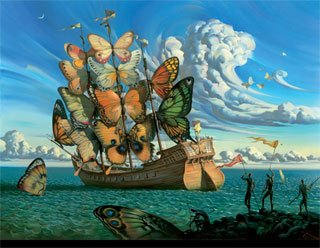 Landscape with Butterflies by Salvador Dali oil paintings