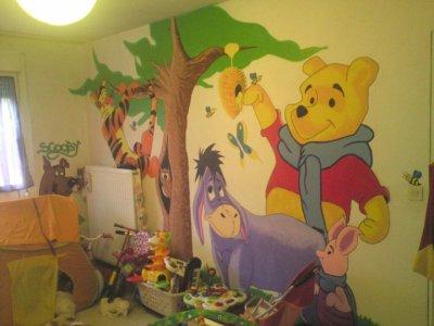 Chambre Enfant Fresque Winnie L 39 Ourson 2eme Mur L K L D Co Cr Ation