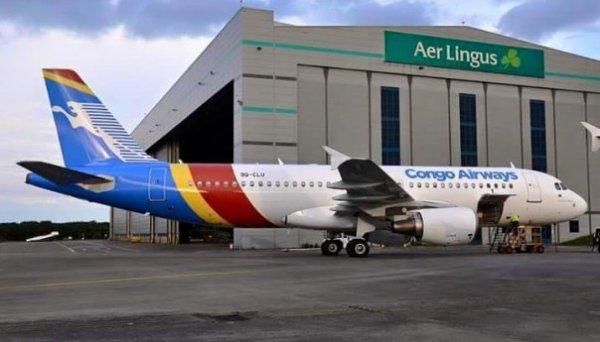 L'A320 de Congo Airways saisi � Dublin � cause d'une cr�ance de l'�tat congolais!