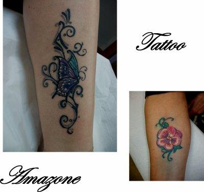 Frise papillon pens e tatouage amazone - Tatouage pensee fleur ...