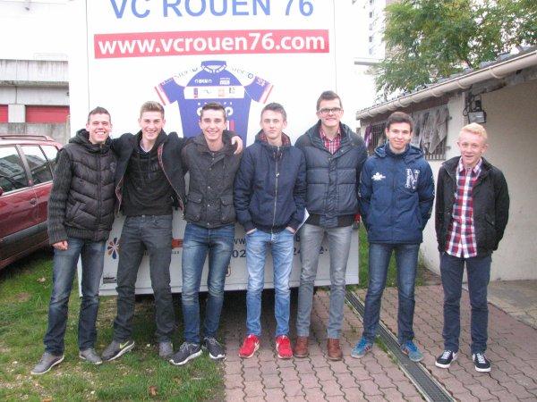 R�union pour les juniors du VC Rouen76 le samedi 8 novembre 2014.