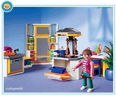 9b special maison personnage quipement int rieur 3968 for Cuisine moderne playmobil