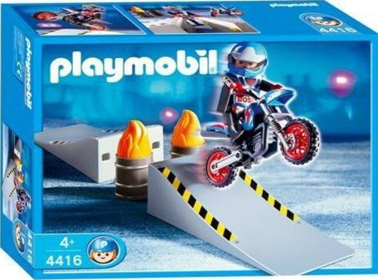 13d sp cial sports v hicules 2 roues 4416 pilote de motocross rampe obstacle blog de - Moto cross playmobil ...