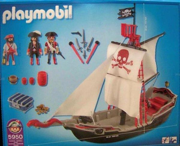 6a sp cial histoire soldat piraterie bateau radeau - Bateau corsaire playmobil ...