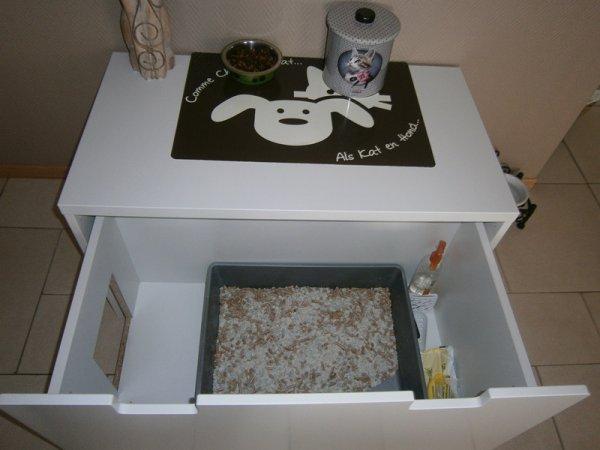 coffre jouet ikea am nag pour cache liti re ma. Black Bedroom Furniture Sets. Home Design Ideas
