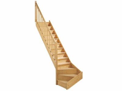 escalier quart tournant gauche en bois st phanie conseill re cie 39 kid et tribu nature. Black Bedroom Furniture Sets. Home Design Ideas