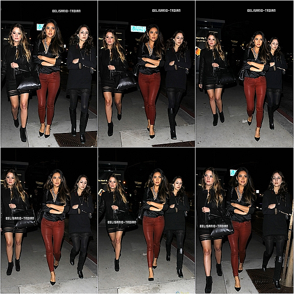 03.11.13: Shay, Troian a Ashley byli viděni odchodu z klubu Bootsy Bellowsde West Hollywood, nebo posádka série se konala malá oslava na počest konce natáčení