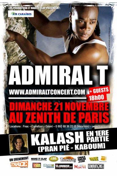 Admiral T en concert au Z�nith le 21 Novembre (1�re partie Kalash)