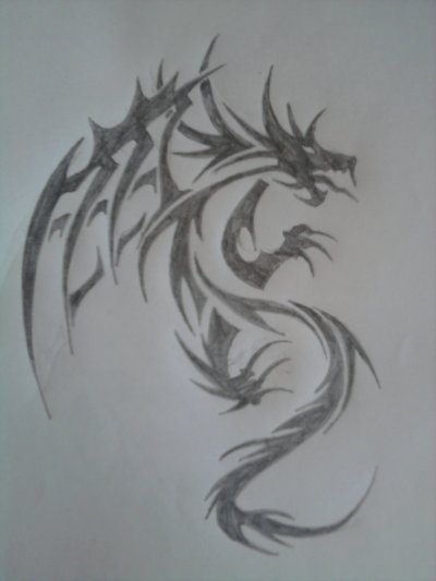 Dragon tribal blog de xx melissa mes dessin xx - Dessin facile de dragon ...