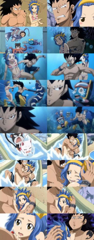 Levy and gajeel moments