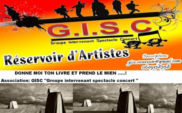 """""""DONNE MOI TON LIVRE ET PREND LE MIEN """" PROJET GISC :  Association Groupe intervenant spectacle concert"""
