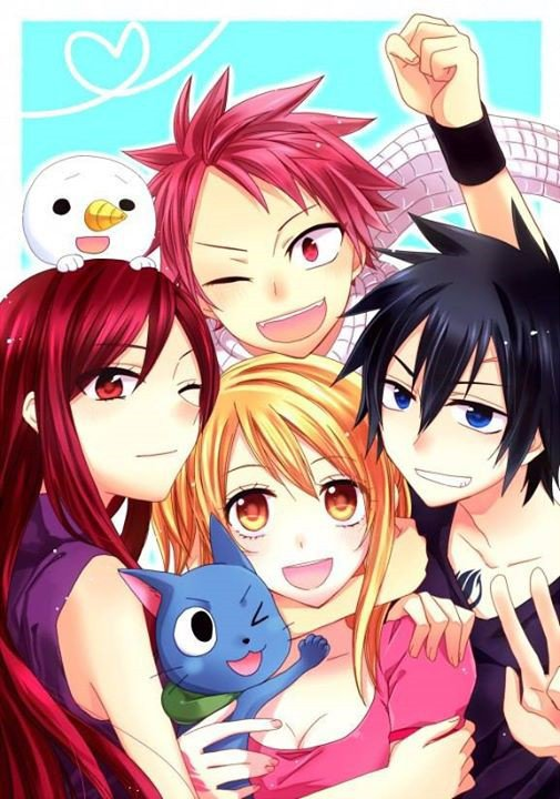 ~ Erza, Natsu, Lucy, Grey, Happy et Plue.