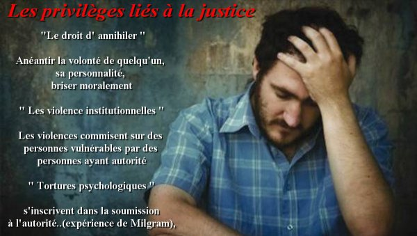 Les violences institutionnelles !