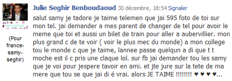 [30/12/10] Les Dedicass des fane De Samy Seghir !