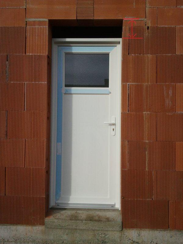 20 janvier 2012 pose des menuiseries probl me sur for Pose d une porte fenetre