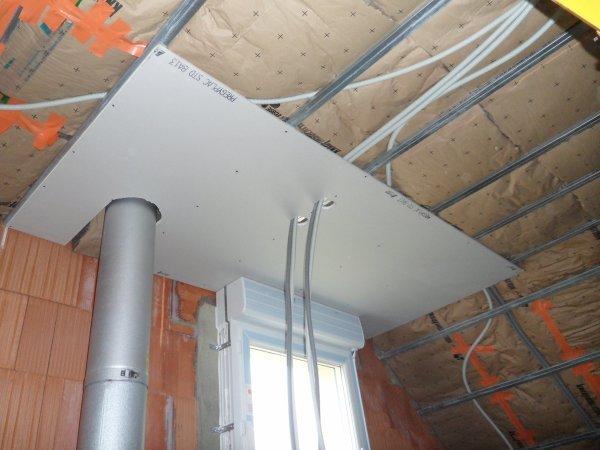 22 f vrier 2012 pose du placo au plafond de l 39 tage for Prix pose de placo