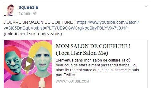Blog de squeezie sweetie blog de squeezie sweetie for Toca hair salon me
