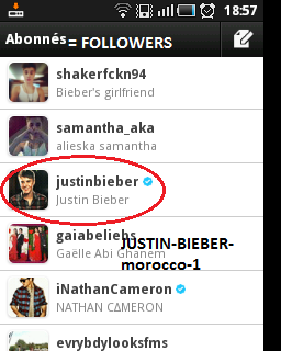 how to get followed by justin bieber