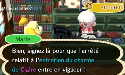 les arr t s municipaux animal crossing 3ds. Black Bedroom Furniture Sets. Home Design Ideas