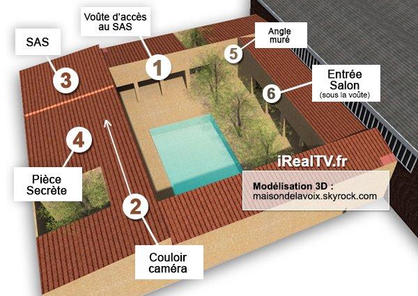 Exclu secret story 7 le retour des chambres l for Plan maison avec jardin interieur