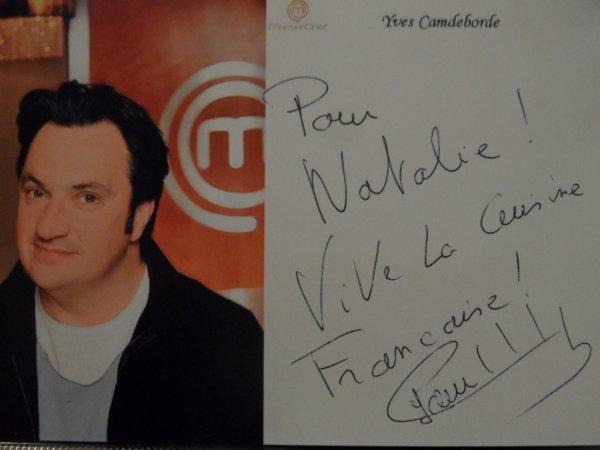 Yves camdeborde blog de autographes 59 for Cuisinier yves camdeborde