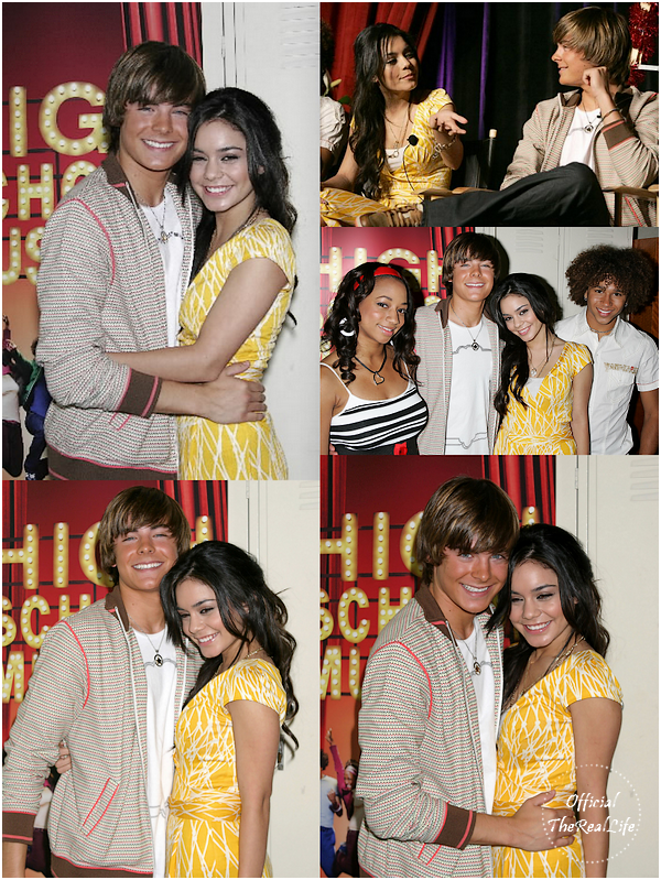 � Official-TheRealLife�  04/05/2006  ※  Zac et Vanessa pour High School Musical press conference.  _