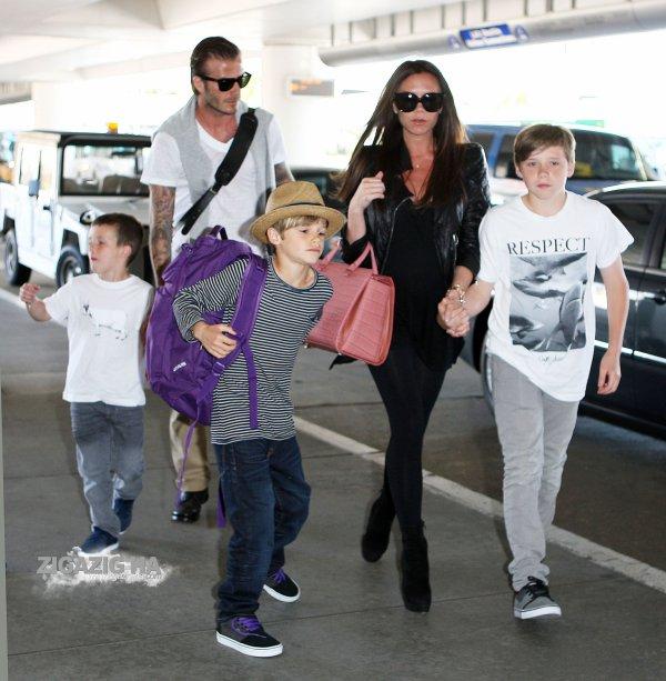 La famille Beckham en route pour le mariage royale !