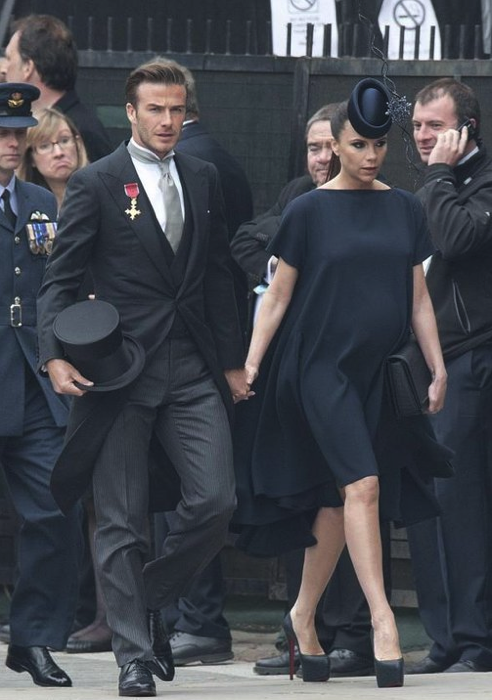 David et Victoria Beckham au Mariage Royal de William et Kate