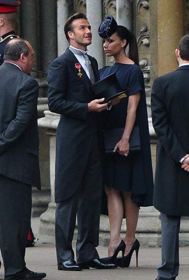 David et Victoria Beckham au Mariage Royal de William et Kate