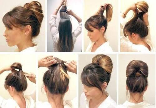 coiffure facile avec un degrade
