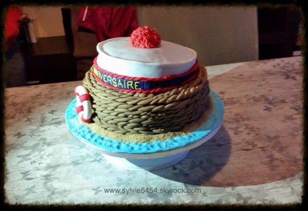 Gateau d anniversaire pour les 60 ans d un marin pate sucre cie - Gateau anniversaire 60 ans ...