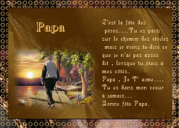 Bonne fete a tous les papa du monde aime vos enfants - Bonne fete mon papa ...