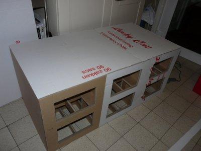 Liti re pour chats meubles en carton for Meuble litiere chat