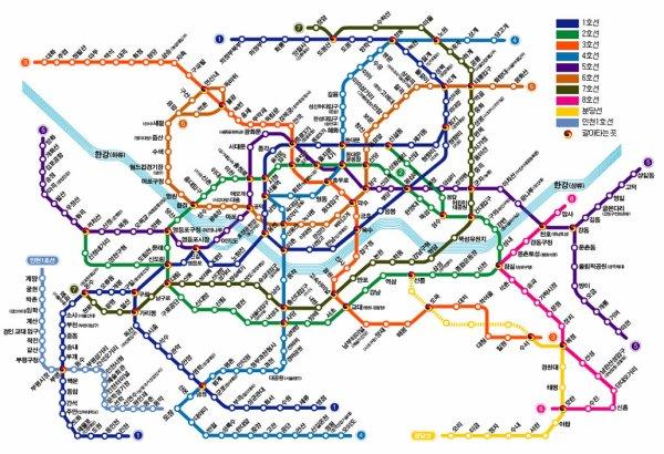 Plan De Metro Seoul   Subway Application