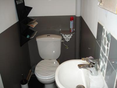 Pour finir la peinture des toilettes construction de for Peinture toilettes