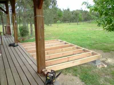 agrandissement de la terrasse construction de notre maison ossature bois. Black Bedroom Furniture Sets. Home Design Ideas
