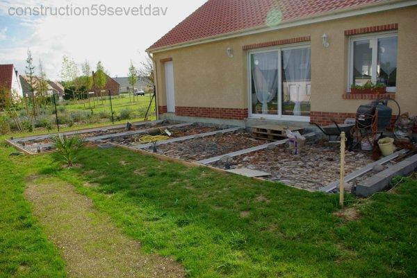 Terrasse 15 09 2010 blog de construction59 sev et dav - Faire une dalle beton pour terrasse ...