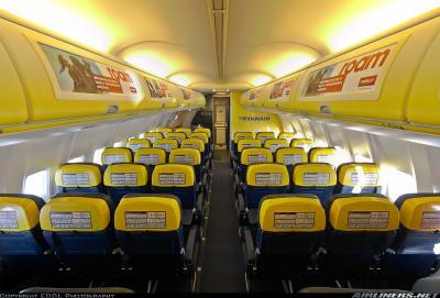 Voici l 39 interieur d 39 un boeing 737 8as de ryanair ryanair for Interieur 737