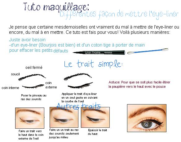Plusieurs fa on de mettre l 39 eye liner - Comment mettre de l eye liner ...